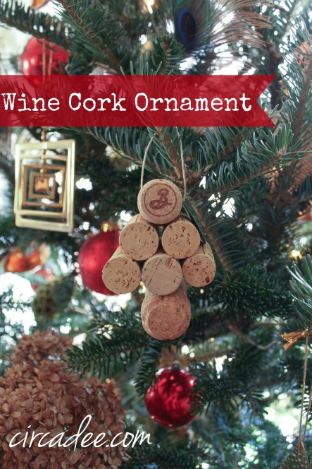wine cork tree ornament diy