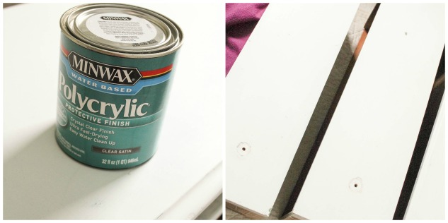 Polycrylic Topcoat - How to turn a dresser into a vanity