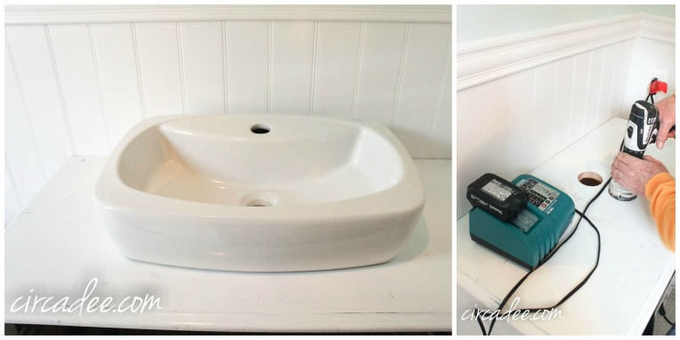 Trough Vessel Sink - How to turn a dresser into a vanity