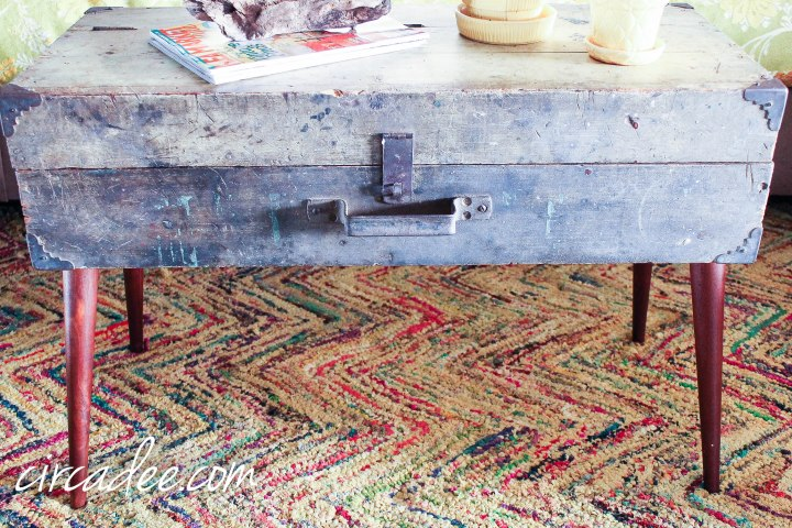 upcycled toolbox table