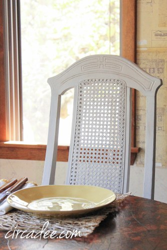 grainsack milk paint dining chairs