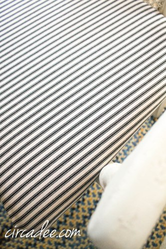 ticking fabric upholstery