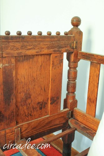 antique Victorian crib bed