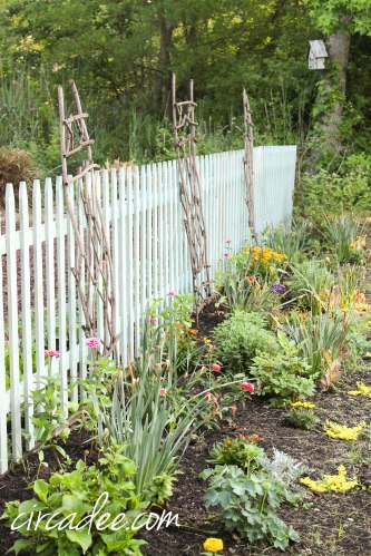 milk paint picket fence