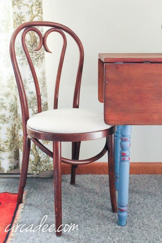 bentwood chair & drop leaf table