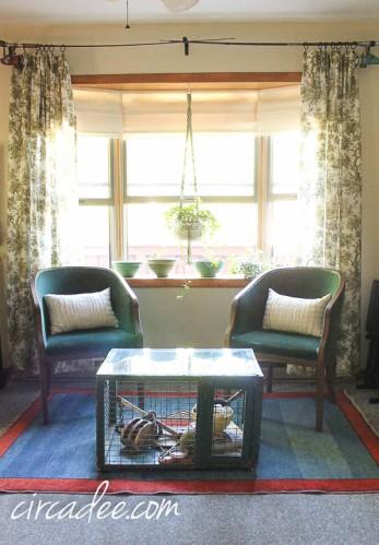 Ward Bennett chairs, vintage nautical living room
