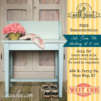 June milk paint demonstration at The West End Garage