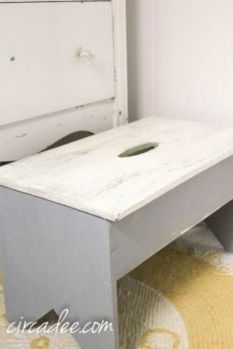 ironstone & shutter gray milk paint stool #mmsmp