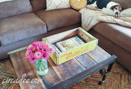 industrial pallet coffee table-4229