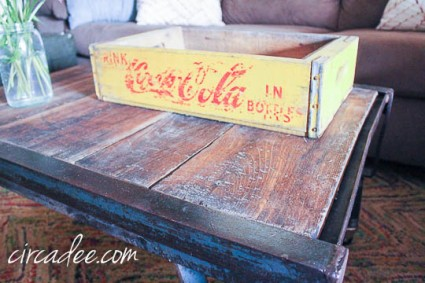 industrial pallet coffee table-4252
