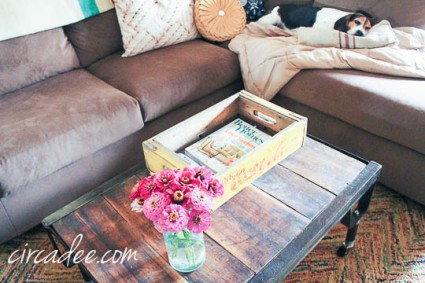 industrial pallet coffee table-4254