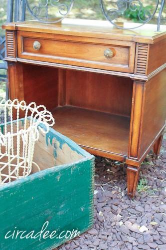vintage drexel nightstand