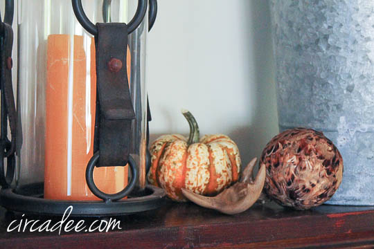 simply natural fall mantel