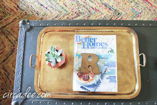 vintage brass tray & paper weight