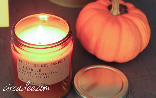 autumn soy candle at West End Garage