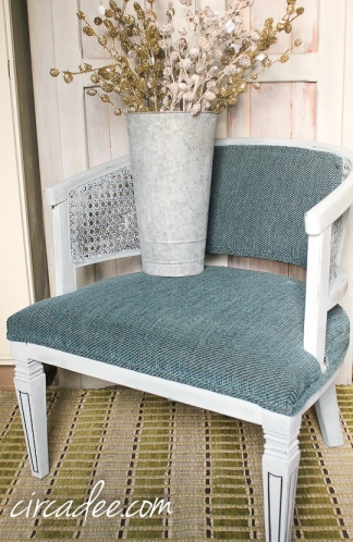 barrel back caned chair-5033
