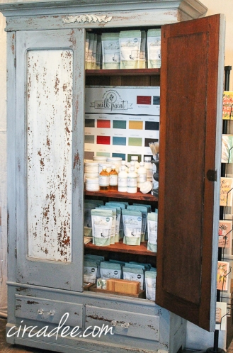 chippy milk paint antique armoire-4954