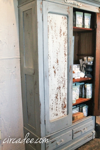 chippy milk paint antique armoire-4957