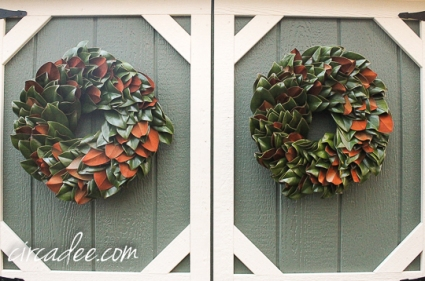 Southern magnolia wreaths