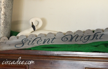 handpainted Silent Night on salvaged trim #mmsmp
