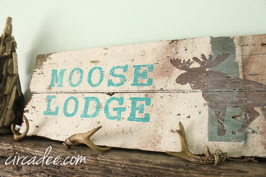 handpainted holiday sign on recalimed wood-5080