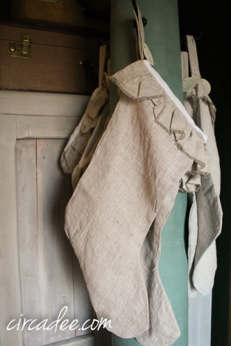 linen stockings + salvaged column clothes tree painted with mmmsmp kitchen scale-5066