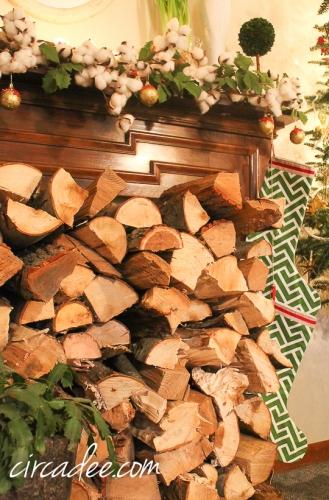 Christmas firewood