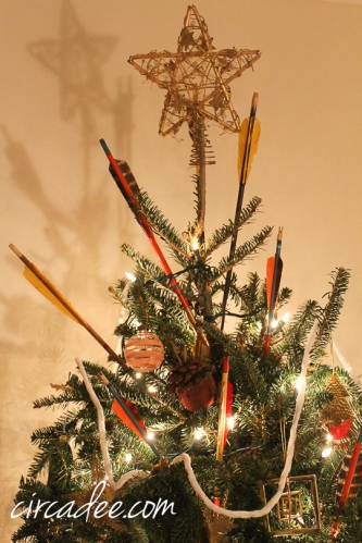 vintage arrows Christmas tree ornaments