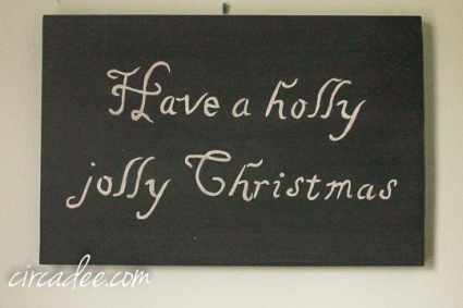 holly jolly Christmas sign-5250