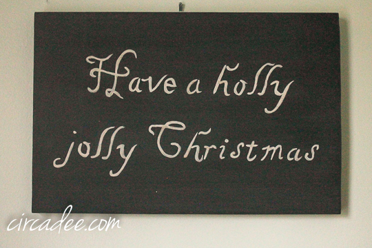 holly joll christmas sign