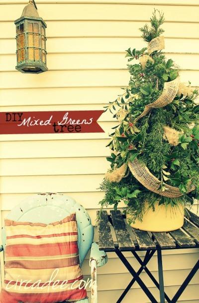 DIY mixed greens tree