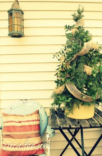 mixed greens Christmas tree