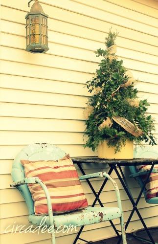 garden Christmas tree