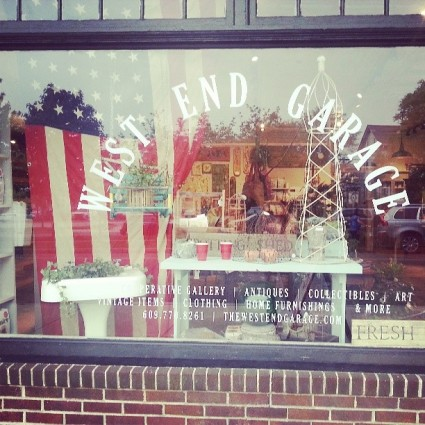 patriotic window display