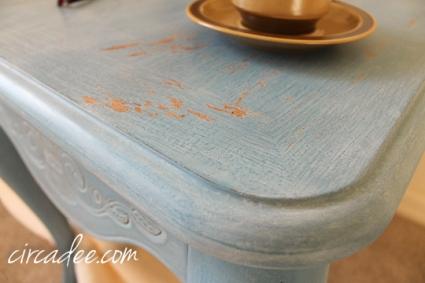 french enamel table-5561