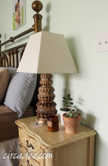 vintage shell lamp