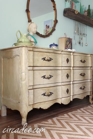 vintage French provincial heirloom dresser