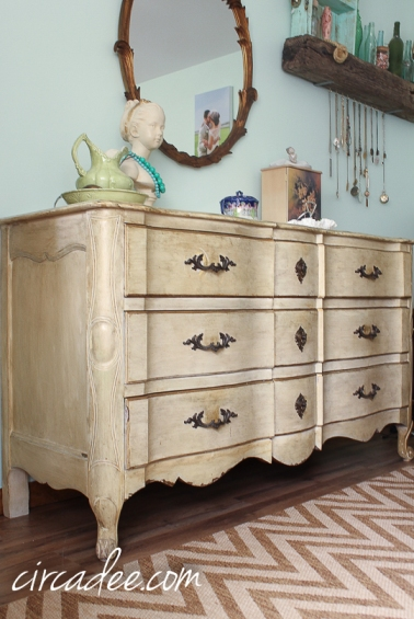 vintage French provincial heirloom dresser