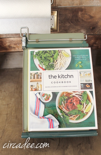 vintage cope easel as cookbook stand