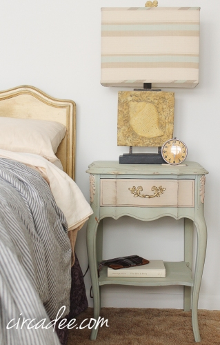 French provincial nightstand Layla's Mint & Marzipan #mmsmp-6129
