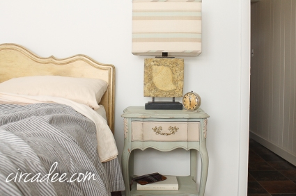 French provincial nightstand Layla's Mint & Marzipan #mmsmp-6133