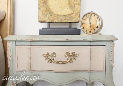 French provincial nightstand Layla's Mint & Marzipan #mmsmp-6140