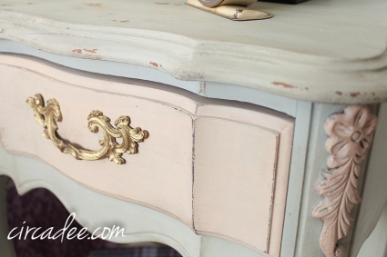 French provincial nightstand Layla's Mint & Marzipan #mmsmp-6148