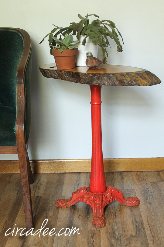 upcycled bubble gum machine table-6785
