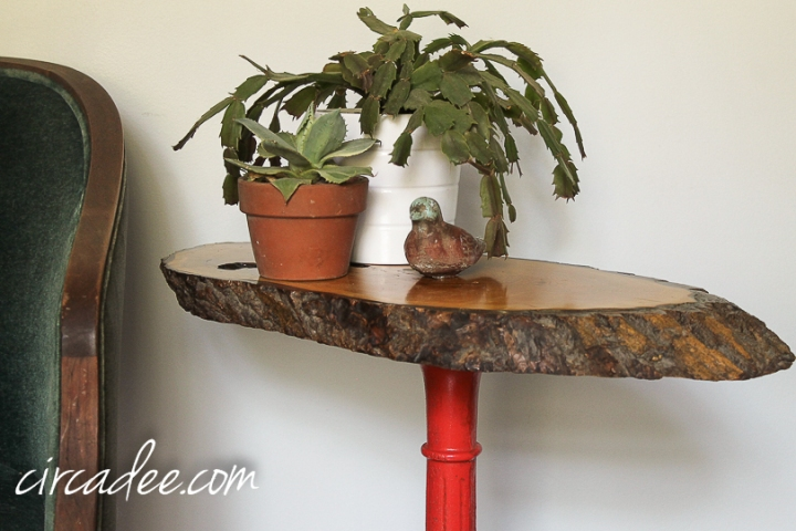 upcycled bubble gum machine table-6789