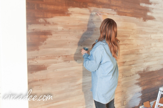 creating a driftwood-look wall-5845