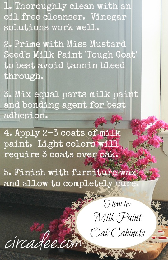 How to Milk Paint Oak Cabinets #mmsmp