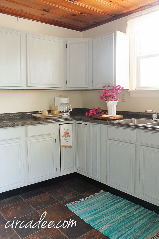 How To: Milk Paint Oak Cabinets