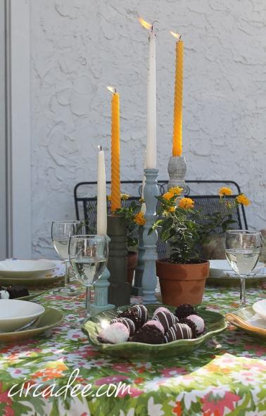 upcycled candlesticks