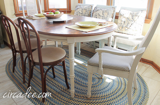 dining nook upholstered chairs